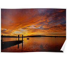 Sunrise over Coffin Bay boat ramp. Poster