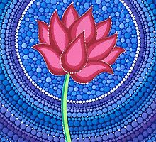 Splendid Calm Lotus Flower by Elspeth McLean
