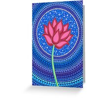 Splendid Calm Lotus Flower Greeting Card