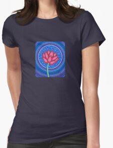 Splendid Calm Lotus Flower Womens Fitted T-Shirt