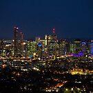 Brisbane by night by Philip Alexander