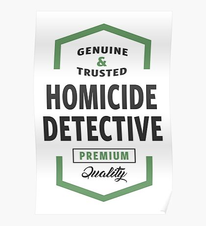 Homicide Detective Logo Gifts Poster