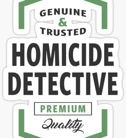 Homicide Detective Logo Gifts Sticker