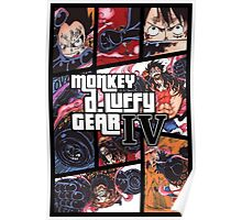 Luffy One Piece / GTA Poster