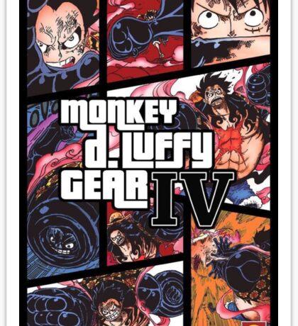 Luffy One Piece / GTA Sticker