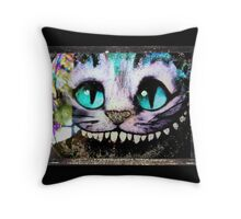 Cheshire Cat from Alice Wonderland  By Notguilty Throw Pillow