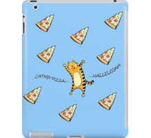 Raining Pizza (Blue) iPad Case/Skin