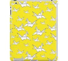 Yellow Cranebirds iPad Case/Skin
