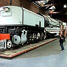 My wife bought me a new engine for my train set........! by Roy  Massicks
