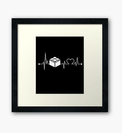 Heartbeat Hobby Lego Building Framed Print