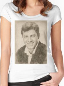 Jerry Lewis, Actor and Comedian Women's Fitted Scoop T-Shirt