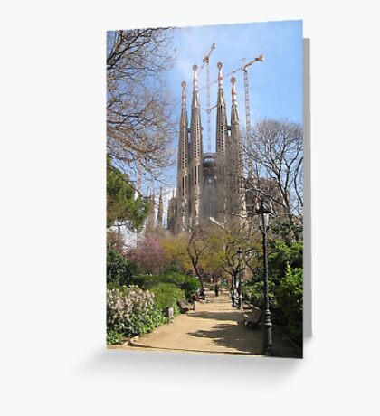 Barcelona, Spain - Sagrada Familia Greeting Card