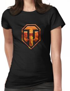 WOT Fire Logo Womens Fitted T-Shirt