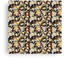Doctor Who Chibi Collage Canvas Print