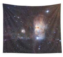 Flame Nebula Wall Tapestry