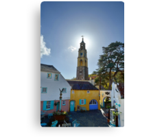 The Bell Tower at PortMeirion Canvas Print