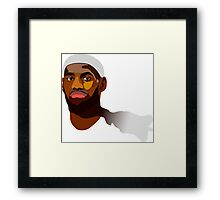 LeBron James - Winner take nothing Framed Print
