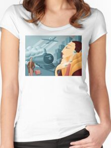 Deco  Women's Fitted Scoop T-Shirt