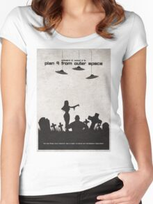 Plan 9 from Outer Space Women's Fitted Scoop T-Shirt