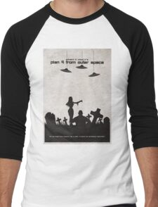 Plan 9 from Outer Space Men's Baseball ¾ T-Shirt