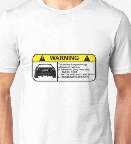 Subaru BRZ Warning Sticker Unisex T-Shirt