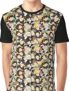 Doctor Who Chibi Collage Graphic T-Shirt