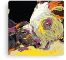 cows together 14 Canvas Print