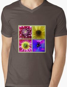Autumn Flowers Mens V-Neck T-Shirt