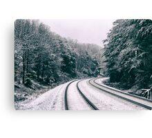 Snowy Travel Canvas Print