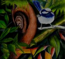 Rainforest Chatter      (sold) by sandysartstudio