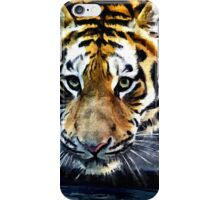 Wildlife Art Print - Crouching Tiger iPhone Case/Skin