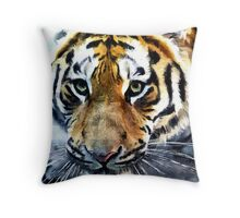 Wildlife Art Print - Crouching Tiger Throw Pillow