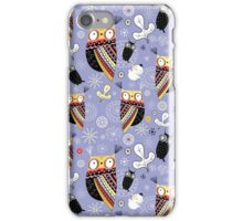 pattern of funny owls  iPhone Case/Skin