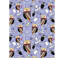 pattern of funny owls  Photographic Print