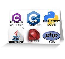 The programming language you like Greeting Card
