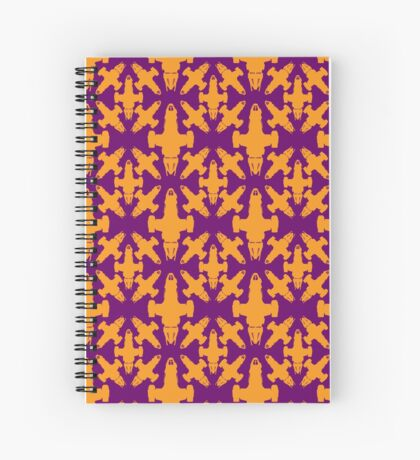 Firefly Pattern Spiral Notebook