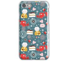 pattern of funny kittens  iPhone Case/Skin