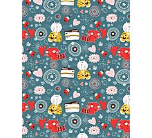 pattern of funny kittens  Photographic Print