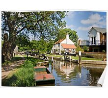 Thames Lock Poster