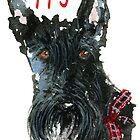 Scottie Dog 'Happy Xmas' by archyscottie