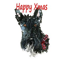 Scottie Dog 'Happy Xmas' Photographic Print