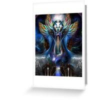 The Eternal Majesty Of Thera Fractal Portrait Greeting Card