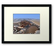 Desolate Planet Framed Print
