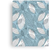 graphic texture of the leaves Canvas Print