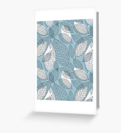 graphic texture of the leaves Greeting Card
