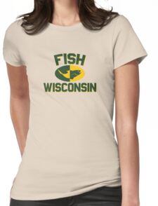 Fish Wisconsin Womens Fitted T-Shirt