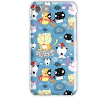 classy pattern of funny cats  iPhone Case/Skin
