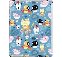 classy pattern of funny cats  iPad Case/Skin