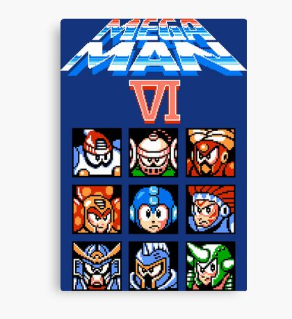 Mega Man 6 (NES) Canvas Print