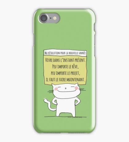 Ma résolution pour la prochaine année / Ohh la la French Doodle iPhone Case/Skin